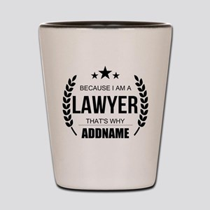 Lawyer Gifts Personalized Shot Glass