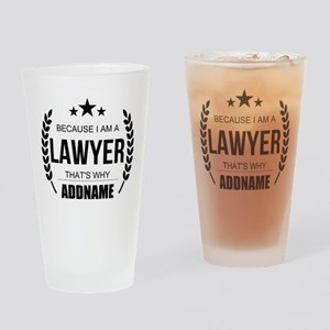 Lawyer Gifts Personalized Drinking Glass