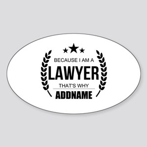 Lawyer Gifts Personalized Sticker (Oval)