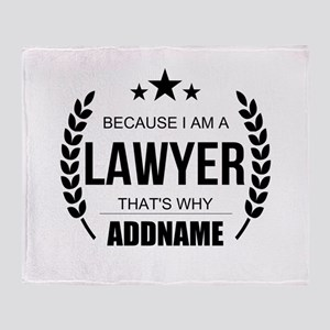 Lawyer Gifts Personalized Throw Blanket