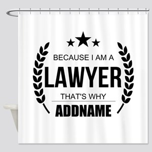 Lawyer Gifts Personalized Shower Curtain