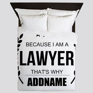 Lawyer Gifts Personalized Queen Duvet