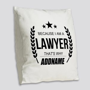Lawyer Gifts Personalized Burlap Throw Pillow