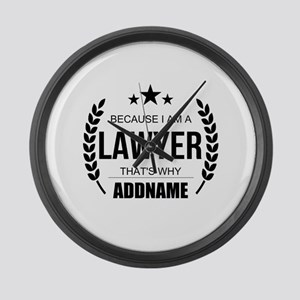 Lawyer Gifts Personalized Large Wall Clock