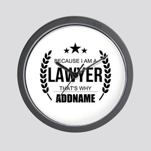 Lawyer Gifts Personalized Wall Clock