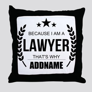 Lawyer Gifts Personalized Throw Pillow