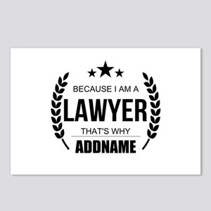Lawyer Gifts Personalized Postcards (Package of 8)