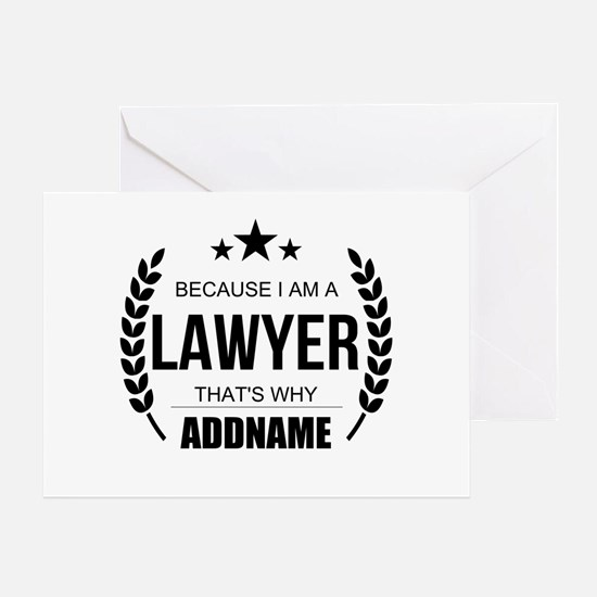 Lawyer Gifts Personalized Greeting Card