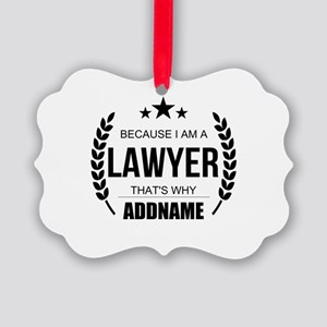 Lawyer Gifts Personalized Picture Ornament