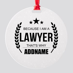 Lawyer Gifts Personalized Round Ornament