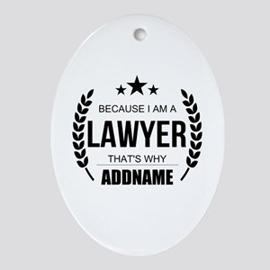 Lawyer Gifts Personalized Oval Ornament