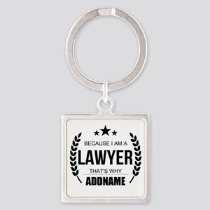 Lawyer Gifts Personalized Square Keychain