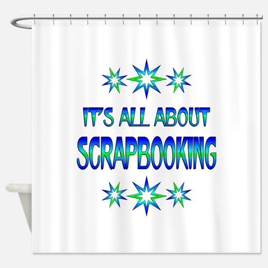 All About Scrapbooking Shower Curtain