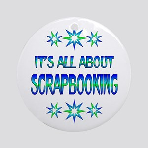 All About Scrapbooking Round Ornament