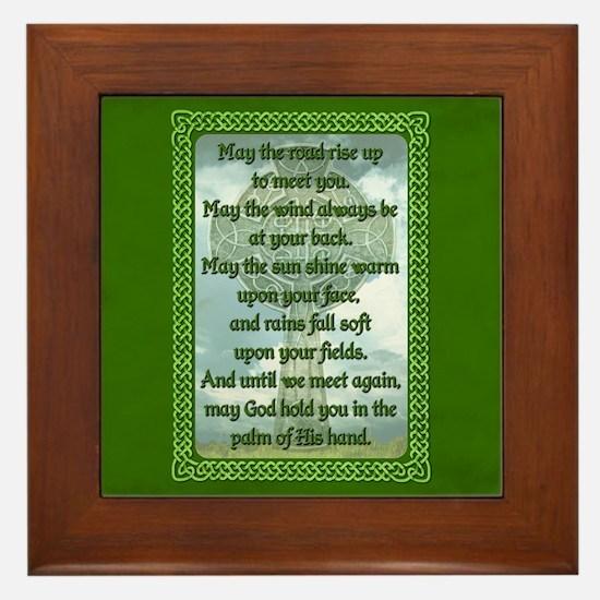 Green Irish Blessing Framed Tile