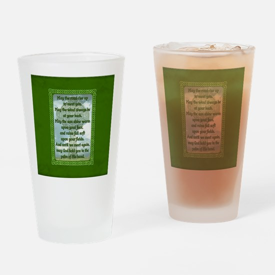 Green Irish Blessing Drinking Glass