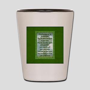 Green Irish Blessing Shot Glass