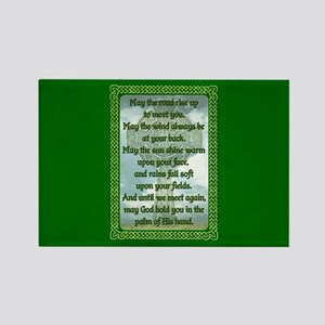 Green Irish Blessing Magnets