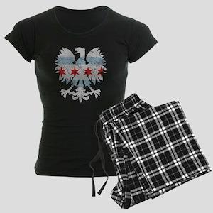 Vintae Chicago Polish Flag White Eagle Pajamas