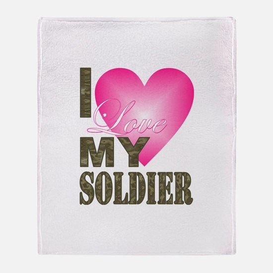 Cute Military valentines Throw Blanket