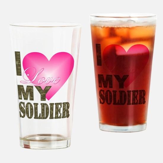 Cute Love my sailor Drinking Glass