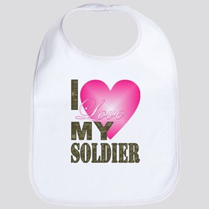 I love my soldier Bib