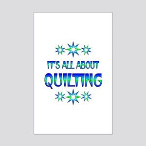 All About Quilting Mini Poster Print