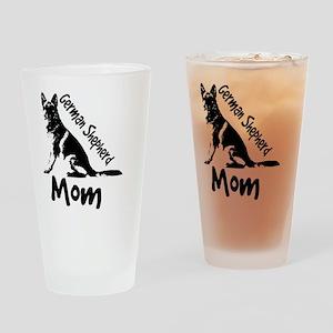 German Shepherd Mom Drinking Glass