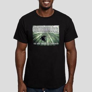 BETTER MEN Men's Fitted T-Shirt (dark)
