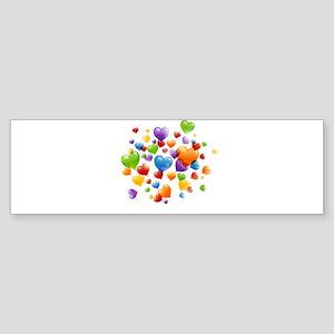 Balloon hearths Bumper Sticker