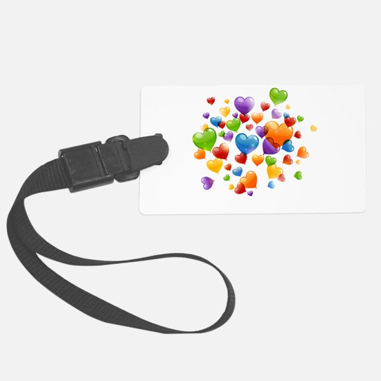 Balloon hearths Luggage Tag