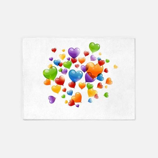 Balloon hearths 5'x7'Area Rug