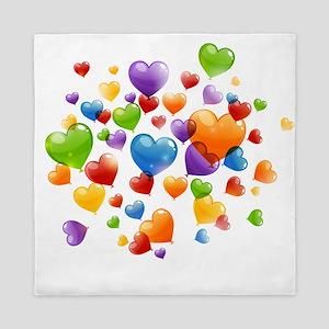 Balloon hearths Queen Duvet