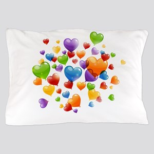 Balloon hearths Pillow Case