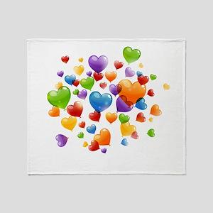 Balloon hearths Throw Blanket