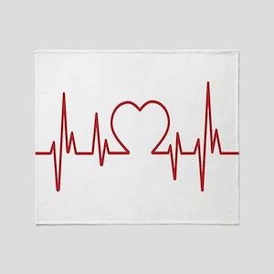 Heartbeat Throw Blanket