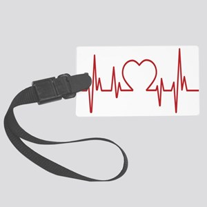 Heartbeat Luggage Tag