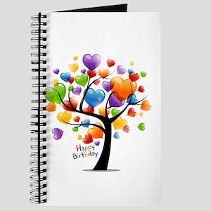 Happy birthday balloons tree Journal