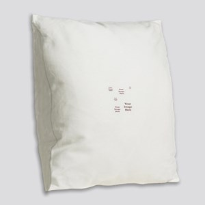 Add a Group of Images Here Burlap Throw Pillow