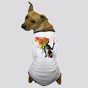 Psychedelic woman Dog T-Shirt