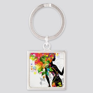 Psychedelic woman Keychains