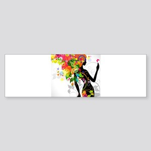 Psychedelic woman Bumper Sticker
