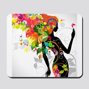 Psychedelic woman Mousepad