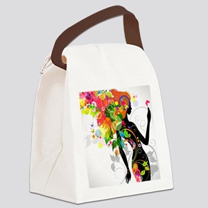 Psychedelic woman Canvas Lunch Bag