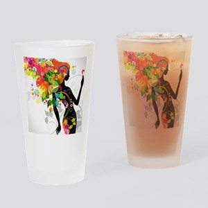 Psychedelic woman Drinking Glass