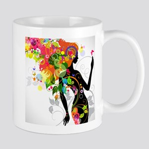 Psychedelic woman Mugs