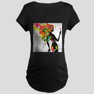 Psychedelic woman Maternity T-Shirt