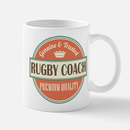 rugby coach vintage logo Mug