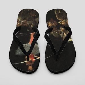 circus art Flip Flops