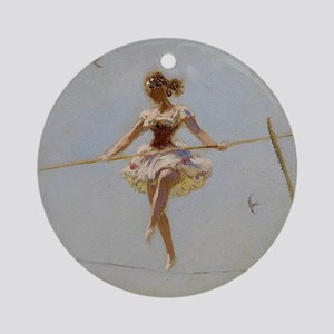 circus art Round Ornament